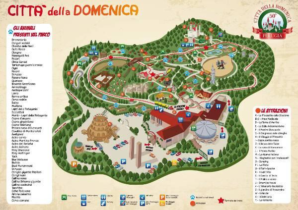Citt della domenica di perugia un parco divertimenti e for Mappa della costruzione di casa